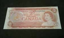 1974 $ 2 DOLLAR CANADA BILL NOTE (RARE) UNC Condition