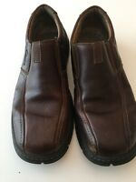 CLARKS Men's Brown Leather Slip-On Shoes Size 9.5 M XTR Lite Pre-Owned Good cond