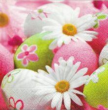 2 Serviettes en papier Pâques Oeuf Marguerite Paper Napkins Most Charming Easter