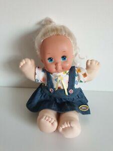 Vintage 1989 Mattel Magic Nursery Baby Toddler blonde doll with clothing