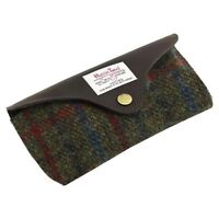 British Bag Company Harris Tweed Glasses Case: Breanais Green Collection