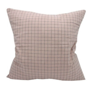 CURCYA Plaid Cushion Covers Washed Cotton Throw Pillow Cover Bed Pillowcases