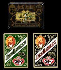 VINTAGE 1972 JACK DANIELS DOUBLE POKER DECK IN ENGLISH TIN-NEAR MINT