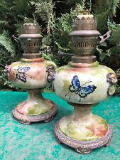 Diffloth Lampe à Pétrole Papillon Charenton Antique French Oil Lamp