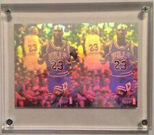 RARE 1991-92 Upper Deck Authentic Uncut Dual Hologram Michael Jordan MVP AW4