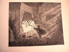 GRAVURE SUR BOIS DE G.DORE 1899 LA BELLE AU BOIS DORMANT