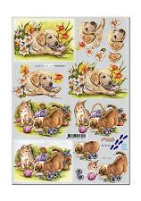 Novelle 3D Motivbogen Etappenbogen Bastelbogen Hund Hunde Katze (030)