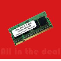 1GB PC2-4200 SODIMM 4200 DDR2 DDR-2 533mhz 533 Laptop 200-pin Memory RAM