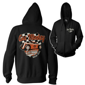 Officially Licensed Gas Monkey Garage - Racing Zipped Hoodie S-XXL Sizes