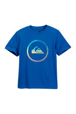 Quiksilver Boys L Short Sleeve Blue Active Blend Surf Tee T-Shirt Cotton NWT