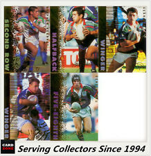 1996 Dynamic Rugby League Cards Series 3 Signature Gold Team Set--WARRIORS (5)