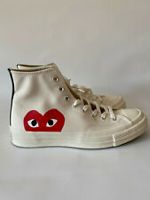 Comme des Garcons Play Converse Sneakers White Hi-Top