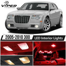 2005-2010 Chrysler 300 Red LED Lights Interior Package Kit