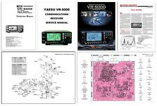 "INSTRUCTION + SERVICE MANUAL 11x17"" + COLOR BROCHURE + REVIEW for YAESU VR-5000"