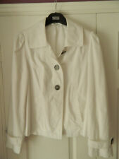 Women's White Per Una Jacket from Marks & Spencer  Size 14