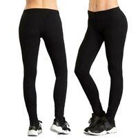 Leggins donna EVERLAST pantaloni da sport palestra leggings fitness nero fuseaux