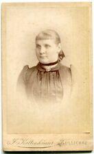Orig. Pappfoto ZÜLLICHAU /SULECHÓW Atelier Kaltenhäuser junge Frau um 1900