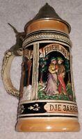 "Vintage German Beer Stein dje jahreszejten ""The Seasons""    W. Germany"