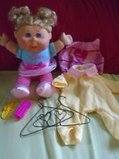 2011 Cabbage patch Kids Doll With Clothes Hangers Lot Blue Eyes