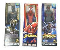 MARVEL Titan Hero Series Spider-Man, Falcon, Black Panther(Erik Killmonger)