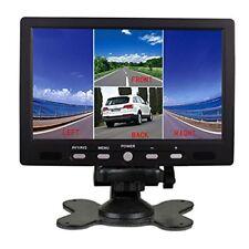 7 Inch HD 4 Split Quad Video Display 4 Video Input TFT LCD Car Rear View Monitor