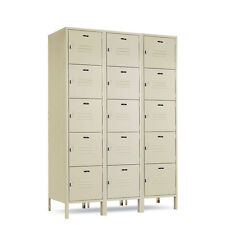 """5-Tier Box Lockers 36""""Wide X 15""""Deep X 78""""High with legs - 72""""High without"""