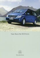 2164MB Mercedes Viano Marco Polo Westfalia Prospekt 2006 9/06 Katalog Reisemobil