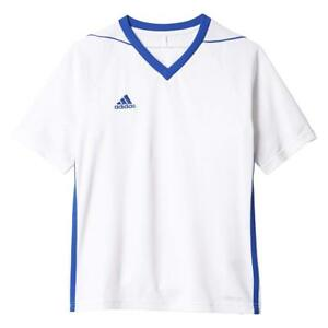 Adidas Youth Tiro 17  Soccer Jersey Small White-Bold Blue NEW MSRP $35.00