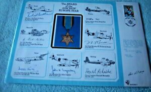 1986 RAF (DM)11 THE AWARD OF THE AIRCREW EUROPE STAR MULTI SIGNED LARGE COVER