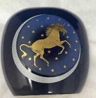 Vintage Japan Unicorn Celestial Galaxy Moon Stars Otagiri Vase Magical Decor