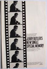 JERRY BUTLER 1970 Poster Ad SPECIAL MEMORY