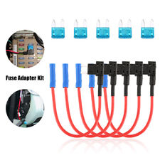 5Pc 12V 15Amp Car Add-a-circuit Fuse TAP Adapter Kit, Mini ATM APM Blade Fuse US