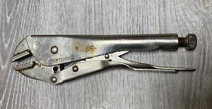 Vintage CRAFTSMAN 45341 STRAIGHT JAW LOCKING PLIER 9 inch QUALITY USA