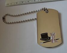 "6"" bead chain Dance Ballet Drill Team ID Luggage Sports bag Tag Keyring Metal"