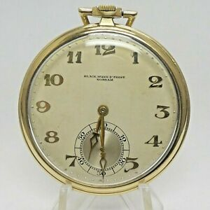 14k Gold Black, Starr & Frost Gorham C.H. Meylan 21 Jewels Pocket Watch Working