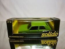 SOLIDO 19 VW VOLKSWAGEN GOLF I - GREEN 1:43 - GOOD CONDITION IN BOX