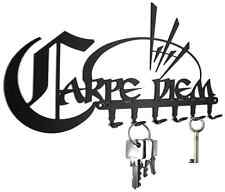 Carpe Diem -  KEY HOOK wall key holder - hooks design steel black