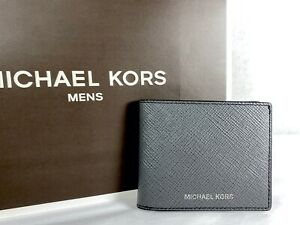 Michael Kors Mens Harrison Greyhound Leather Slim Billfold Wallet $128