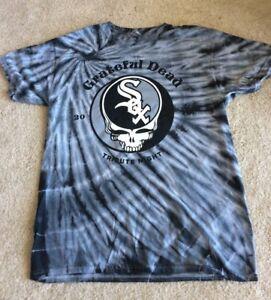 Chicago White Sox Grateful Dead T-Shirt Shirt Tie Dye Silver Black Medium M SGA