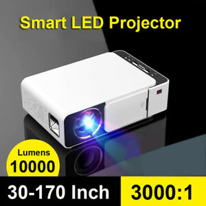 10000Lumens 1080P HD LED Projector Portable Mini Video Multimedia HDMI USB VGA
