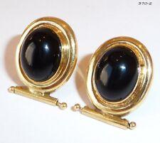 Ohrstecker Ohrringe Ohrschmuck Edelstein Onyx - 750 Gold Gelbgold - 370-2