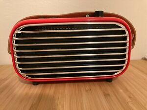 Vintage Bluetooth Speaker, Retro LOFREE Poison: Bluetooth, FM, Aux, Recharbeable