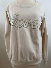 "JOE BOXER Women's ""LOVE"" Message Sweatshirt Cream. Pre-owned"