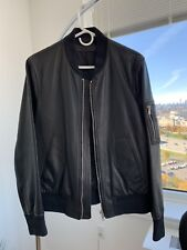 Neil Barrett Leather Bomber Jacket Sz M