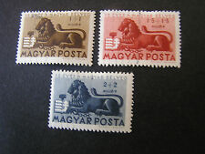 HUNGARY, SCOTT # B189-B191(3),1946 SEMI-POSTAL 75TH ANNIVERSARY 1ST POSTAGE USED