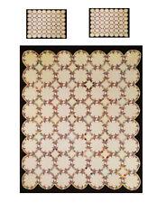 Miniature Dollhouse FriendShip Knot Quilt Top Computer Printed Fabric 2 pillows