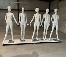 Set Of 5 Schlappi Bonaveri Female Contemporary Mannequins With Metal Bases