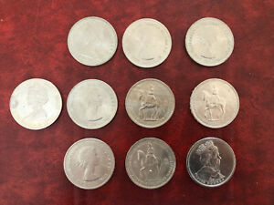 Elizabeth II Commemorative Crown Coin 5 Shillings 5 Pound x10 3 Designs