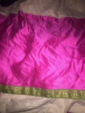 Bombay Company Kids Hot Pink Sari Zari Twin Bedskirt Bohemian Boho