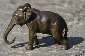 Vienna Bronze Cold Painted Miniature Standing Elephant - Austria Bergman?